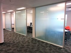 The use of frosted glass can be hugely beneficial in office and commercial spaces for privacy. This is an office building we did recently in Brisbane - now they don't feel like they are working in a fishbowl every time someone walks past! Office Fit Out, Fishbowl, Privacy Glass, Frosted Glass, Set Design, Brisbane, Walks, Commercial, Spaces