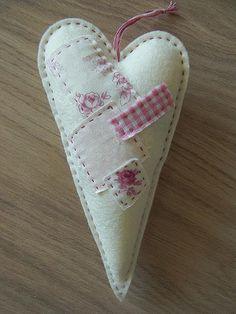 Tilda Heart with Scraps