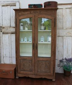 French Glazed Cupboard by Restored2bloved on Etsy