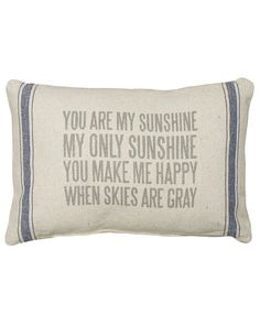 Check out the deal on My Sunshine Pillow at The Paper Store Couch Pillows, Throw Pillows, Cushions, Paper Store, Morning Inspiration, You Make Me Happy, You Are My Sunshine, Pillow Talk, Diy Craft Projects