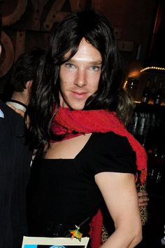 Benedict SizzzzzlingHot .. even as a WOMAN !!!. Oh God... dosn't he ever Stop ??. WigOuts Big Night Out - Fundraising Gala.