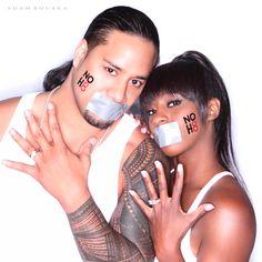 WWE Superstar Jimmy Uso  WWE Diva Trinity (Naomi - Funkadactyls)