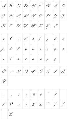 Lisbon Script Regular font character map