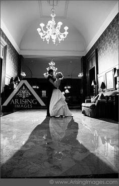 Creative wedding photo inside the Royal Park Hotel. Cool angle! #arisingimages #michigan #wedding #pictures