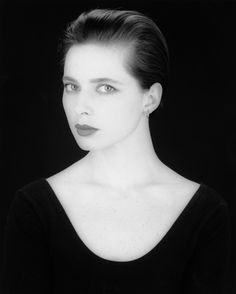 Isabella Rossellini by Robert Mapplethorpe.