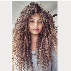 Her hair is very beautiful