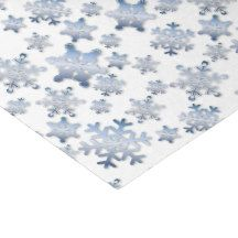 """Shiny Metallic Blue Snowflakes - Tissue Paper 10"""" X 15"""" Tissue Paper"""