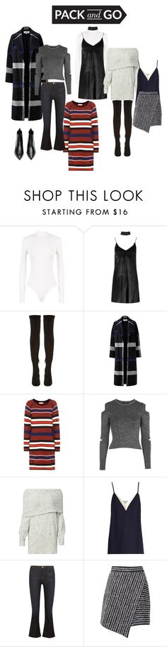 """Pack & Go"" by evefg85 ❤ liked on Polyvore featuring WearAll, Boohoo, Nicholas Kirkwood, Helene Berman, Tory Burch, Topshop, Joie, Lanvin, Frame and Marco de Vincenzo"
