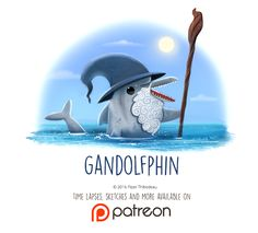 Daily+Paint+1450.+Gandolfphin+by+Cryptid-Creations.deviantart.com+on+@DeviantArt