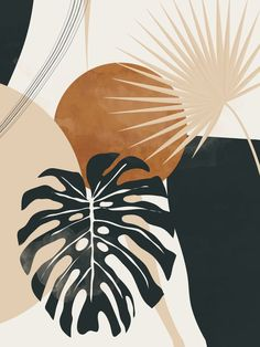 ABSTRACT ART TROPICAL LEAVES 7