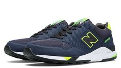 Elite 90s Running 850, Navy with Neon Yellow