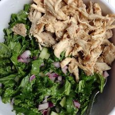 Emerald Kale Salad with Balsamic Chicken