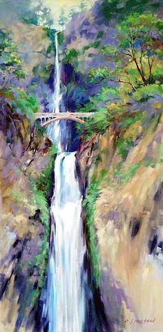 Julie Gilbert Pollard - Multnomah Falls