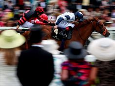Anthem Alexander leads close home in the Queen Mary Stakes at Royal Ascot.
