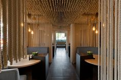 Architecture, Odessa Restaurant by YOD Design Lab Having Wonderful Rope Ceiling: Amazing Interior With Rope Ceiling Theme