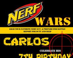 tarjetas invitacion fiesta nerf - Buscar con Google