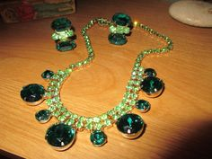 Stunning Signed CORO PERIDOT & EMERALD Green by THEUNITGAL on Etsy