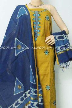 Designer Handloom Cotton Unstiched Suit Fabric