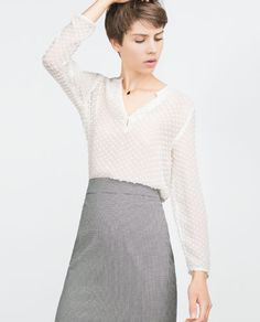 Image 2 of SILK BLOUSE from Zara