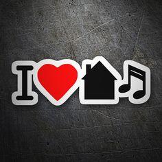 Pegatinas: I love home #coche #pegatina #sticker