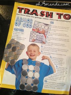 armor of god crafts for kids | armor of God Breastplate of Righteousness craft from Clubhouse Jr on ...