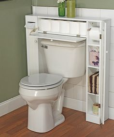 White Commode Space Saver | zulily