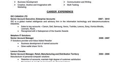 Resume Sample Template And Format