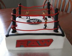 9 Year Old Boy Style WWE Wrestling Ring Birthday Cake For 9yearoldJPG Party