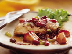 Dessert Chicken---Tastes like turkey dinner with stuffing and sweet apples..One of our favorites!