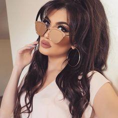 "✨ #hellyluv #love #motd Lashes @hudabeauty ""Scarlett""✨Lips #hudabeautylipcontour ""trendsetter""Love these rose gold glasses from @bb_junky Hair @bellamihair @nabilbawab @mounirsalon #hudabeauty #anastasiabeverlyhills #beauty #style #ponytail #rosegold #accessories #glasses #fashionista #ootd"