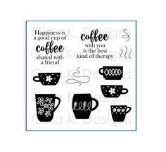 Gina K Designs COFFEE THERAPY Clear Stamps 1110