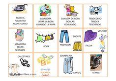 Vocabulario Basico ropa trabajos - Free ESL projectable worksheets ...