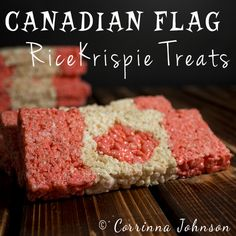 Need some Canadian themed treats to serve during Canada day celebrations? Try your hand at making these patriotic Canadian Flag Rice Krispies Treats that are as much fun to eat as they are to make! Cereal Treats, Rice Krispie Treats, Rice Krispies, Fun Desserts, Delicious Desserts, Dessert Recipes, Canada Day Party, Party Food And Drinks, How To Grill Steak