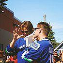 "spn-j2-blog: ""  ©fenrissa Jensen Ackles, Jared Padalecki at the Redbull Soapbox race in Vancouver, September 7th 2008. """