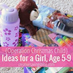 For less than $20, you can send a shoebox full of love to a needy child halfway around the world. Here's a great list of ideas for a girl 5-9!