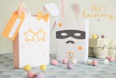 Fabriquer un joli panier pour la chasse aux œufs de Pâques Idee Diy, Bags, Pink Chalk, Bunny Mask, Easter Table Settings, Baby Easter Basket, Handbags, Bag, Totes