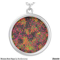 Blumen Bunt Aqua Versilberte Kette Designs, Bunt, Pocket Watch, Coin Purse, Aqua, Laptop, Purses, Wallet, Accessories