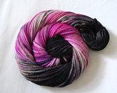 Handpainted Worsted Weight Superwash Merino Yarn- Tropical Flower 110 yards. $14.00, via Etsy.