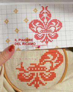 Il Piacere del ricamo Crewel Embroidery, Ribbon Embroidery, Bargello Needlepoint, Cross Stitch Designs, Monochrome, Quilts, Couture, Ornaments, Elsa