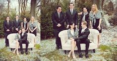 Winter Bridal PArty  Alex and Tiff's Snowy February Wedding - Julia Conroy Photography, Inc. Store