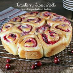 Cranberry Sweet Rolls - Recipes Food and Cooking