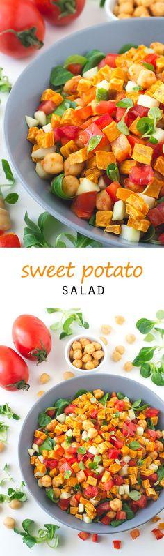Sweet Potato Salad #vegan #glutenfree