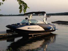 The Mastercraft boat.