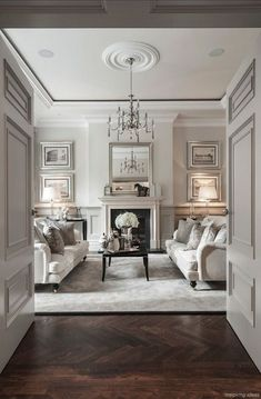 Classic Living room with sophisticated decor. Classic Living room with sophisticated decor. London Living Room, Home Living Room, Living Room Designs, Room London, Apartment Living, Taupe Living Room, Dark Floor Living Room, White Couch Living Room, Monochromatic Living Room