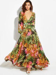 Vestido Longo Elegante Vintacy Long Sleeve Dress Green Tropical Beach Vintage Maxi Dresses Boho Casual V Neck Belt Lace Up Tunic Draped Plus Size Dress Long Sleeve Maxi, Maxi Dress With Sleeves, Draped Dress, Full Sleeves, Maxi Robes, Maxi Dresses, Long Dresses, Trendy Dresses, Fashion Dresses