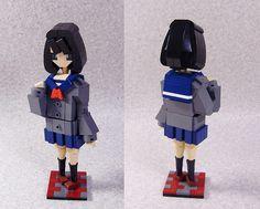 Statue/ High school girl by LEGO DOU Moko, via Flickr