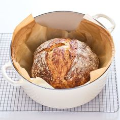 A no-fuss recipe that is revolutionizing home baking trades flavor and reliability for ease. Could we improve the bread& bland taste and make it rise high every time? Knead Bread Recipe, No Knead Bread, Sourdough Bread, No Knead Whole Wheat Bread Recipe, Rye Bread, Donut Toppings, Kirara, Americas Test Kitchen, Home Baking