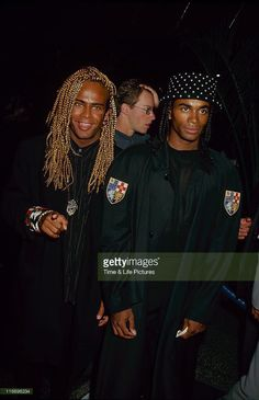 Rob Pilatus and Fab Morvan of Milli Vanilli attend the screening of 'The Commitments' on August 7, 1991 at Cinerama Dome Theater in Universal City, California.Minder
