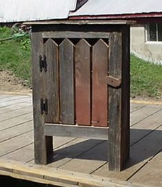 Rustic Wood Furniture Cabinets With Picket Fence Door And Shelf For Your Country Decor Rustic Wood Furniture, Primitive Furniture, Country Furniture, Painted Furniture, Furniture Ideas, Furniture Stores, Cheap Furniture, Old Wood Crafts, Country Wood Crafts