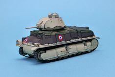WWII SOMUA S35 Free Tank Paper Model Download - #SOMUAS35, #Tank, #WWII